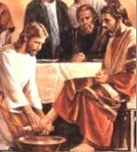 Jesus washing the disciples' feet
