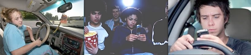 Teens with phones