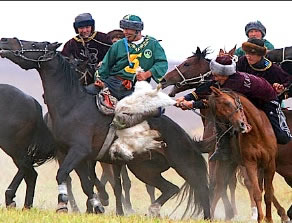 Riders fighting over the Lamb.
